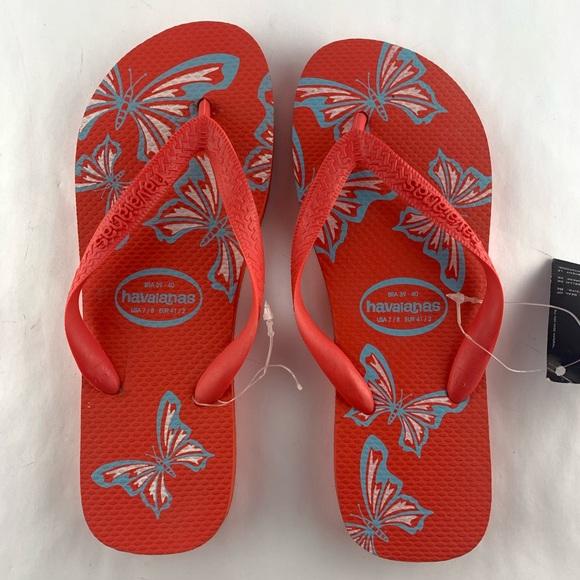 0788dcc183be Havaianas Women s Butterfly Print Flip Flops